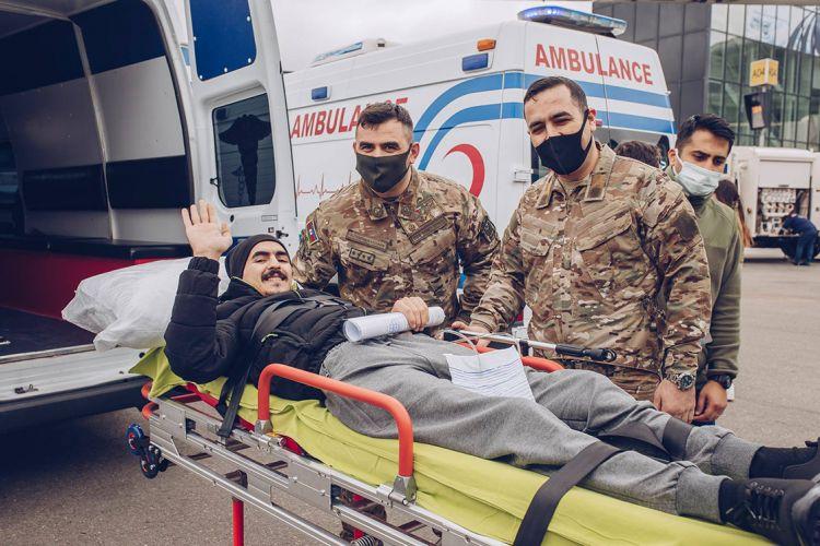 27 Azerbaycanlı Gazi Türkiye'de tedavi edilecek
