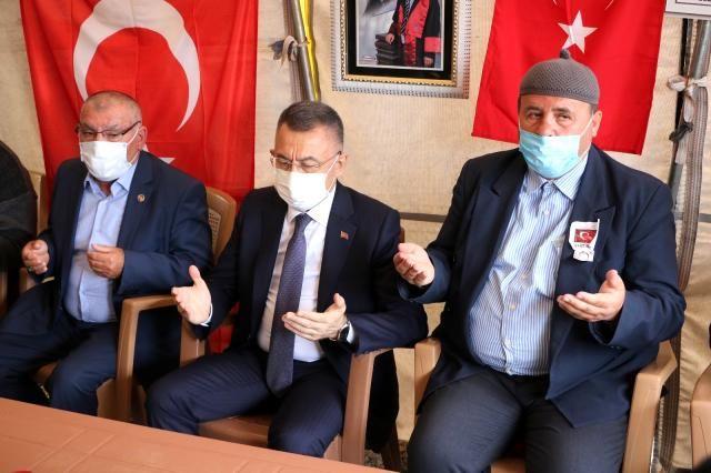 Cumhurbaşkanı yardımcısı Şehit ailesini ziyaret etti