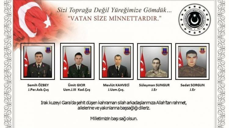 Kimliği tespit edilen Asker, polis 12 Şehidimizin listesi