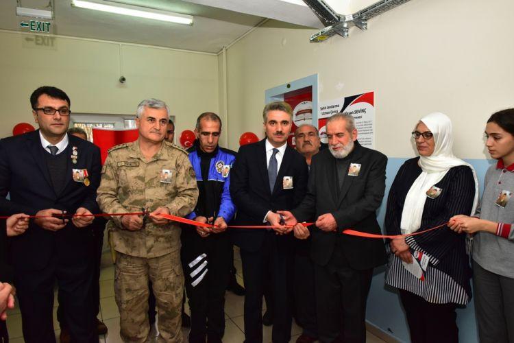 """Malatya'da """"Yaşayan Şehit Kütüphaneleri"""" Projesinde şehit kütüphane açıldı"""