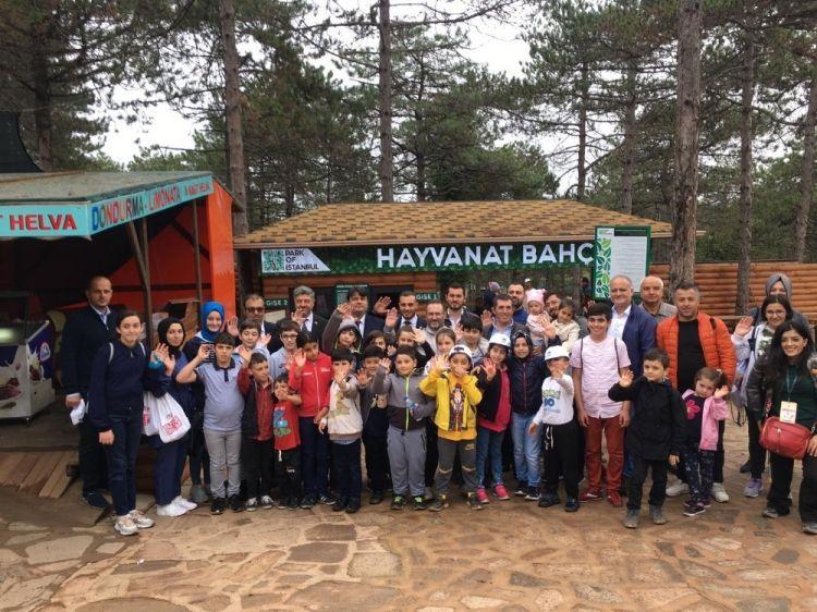 Şehit ve gazi çocukları hayvanat bahçesini gezdi