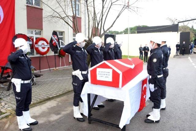 Susurluk'ta Şehit olan Polis memuruna tören yapıldı