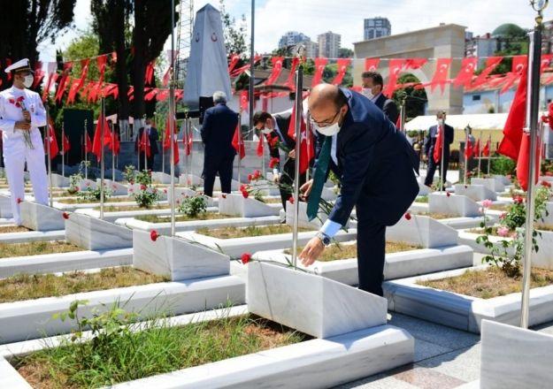 Trabzon'da Kurban Bayramında şehitlik ziyaret edildi