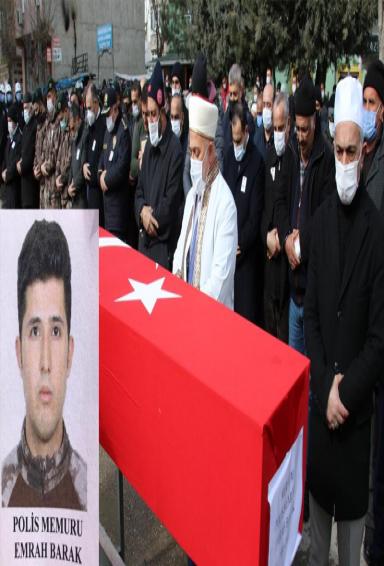 Diyarbakır'da Şehit olan polis memuru son yolculuğuna uğurlandı