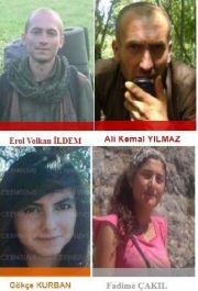 1 ayda 21,5 milyon TL ödülle aranan 4 terörist öldürüldü