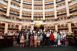 15 Temmuz Şehit çocukları Cumhurbaşkanlığı Kütüphanesini ziyaret etti