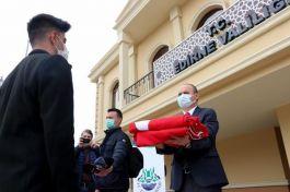 18 Mart'ta Şehitlikte göndere çekilecek Bayrak Edirne'den yola çıktı