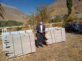 24 Şehit için Şehitliğe  22 ton mermer gönderildi