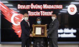 Ağrı'da Şehit Ailelerine Devlet Övünç Madalyası verildi