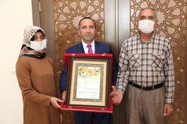 Aksaray da Şehit Ailesine Şehadet belgesi verildi