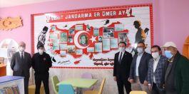 Akseki'deki okula Şehit Kütüphanesi yapıldı
