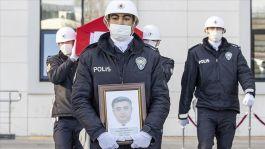 Ankara'da vefat eden Polisimiz defnedildi
