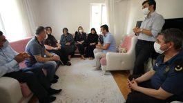 Ankaragücü spor  Başkanı Mert'ten şehit ailesine taziye ziyareti