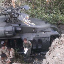 Askerimizi Allah korudu Bingöl'de helikopterimiz dağa zorunlu iniş yaptı