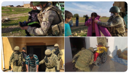 Askerlerimiz İhtiyaç sahibi Suriyelilere yardım etti