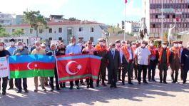 Azerbaycan şehitleri için Menemen'de lokma hayrı yapıldı