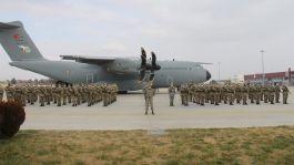 Azerbaycan'da  Karabağ'da 136 Askerimiz göreve başladı
