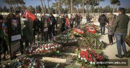 Azerbeycan'lılar yılbaşında Şehitliklere koştu(Video)
