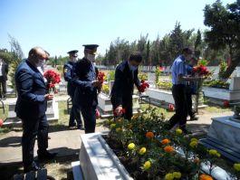 Bandırma ilçesinde Bayram'da Şehitlik ziyareti yapıldı
