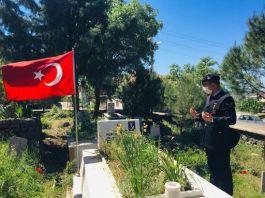 Bayram öncesi Şehit ve Gazi mezarlarına bakım