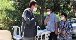 Belediye Başkan Şehit evine taziye ziyaretinde bulundu