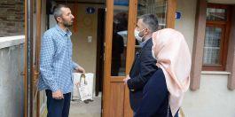 Belediye Başkanı gazi ve gazi ailelerini ziyaret etti