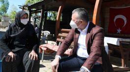 Belediye Başkanı Kandıra'da Şehit annesini ziyaret etti