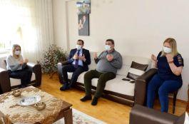 Belediye Başkanı Şehit ailesini ziyaret etti