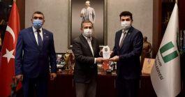 Belediye Başkanına Şehit,Gazi Genel Başkandan ziyaret