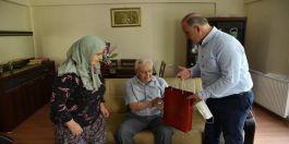 Belediye Başkanından Şehit  babalarına Babalar Günü ziyareti