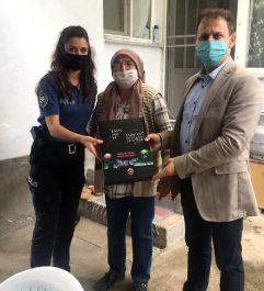 Biga'da Şehit polis ailesi ziyaret edildi