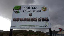 Bitlis 11 helikopter Şehitleri anısına hatıra ormanı oluşturuldu