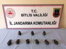 Bitlis'te 9 adet el bombası ele geçirildi
