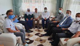 Boyabat'ta Kurumlara Şehit yakınlarına bayram ziyaretleri