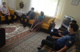 Bozdoğan Kaymakamı Şehit Ailelerini ziyaret etti