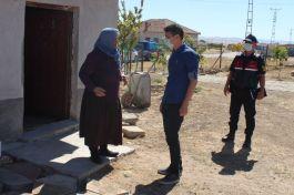 Boztepe'de Şehit Annesine ziyaret