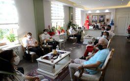 Şehit ve Gazi Aileleri Derneğinden Valiye ziyaret