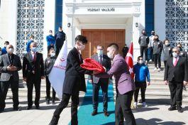 Çanakkale ye giden Ay yıldızlı Bayrak Yozgat'ta