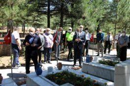 Çankırı'da Şehitliklere Bayram ziyareti