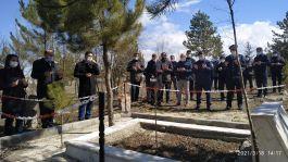 Çavdarhisar'da Şehit mezarları ziyaret edildi