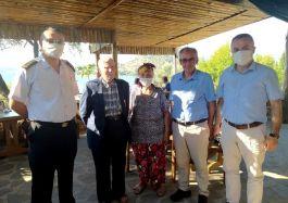 Çeşme İlçesi'nde Şehit yakını ve Gazilere bayram ziyareti