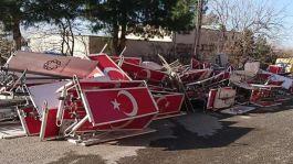 Demirtaş'ın yönettiği Belediyeden Bayrağımıza saygısızlık
