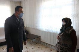 Durağan'da Şehitlik ve Şehit aileleri ziyaret etti
