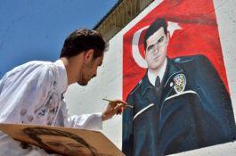 Elbistan'da şehit polisler için özel çalışma yapıldı