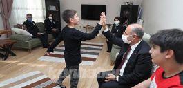 Emniyet Genel Müdürü Şehit polisler ailelerine ziyarette bulundu