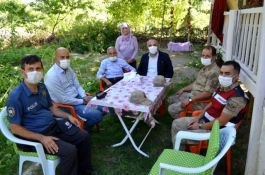 Emniyet Müdürü Şehit ve gazi yakınlarını evlerinde ziyaret etti