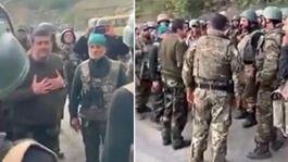 Ermeni komutan kaçan Ermeni askerlere yalvardı(Video)