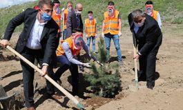 Erzurum da Şehit Çocuklar Hatıra Fidanlığı yapıldı
