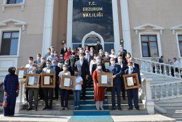 Erzurum'da Devlet Övünç Madalyası verildi