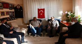 Genel başkan yardımcısı Şehit ailesini ziyaret etti